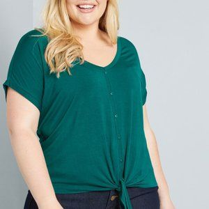 Timely Arrival Tie Waist Top